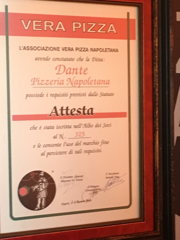 Dante is Nebraska's only restaurant that has been certified as authentic by the Associazione Vera Pizza Napoletana, which is basically the governing body of Neapolitan pizza abroad. Nick says that he experimented with 50 different types of tomatoes before finding the one he wanted to use for Dante's pizza.