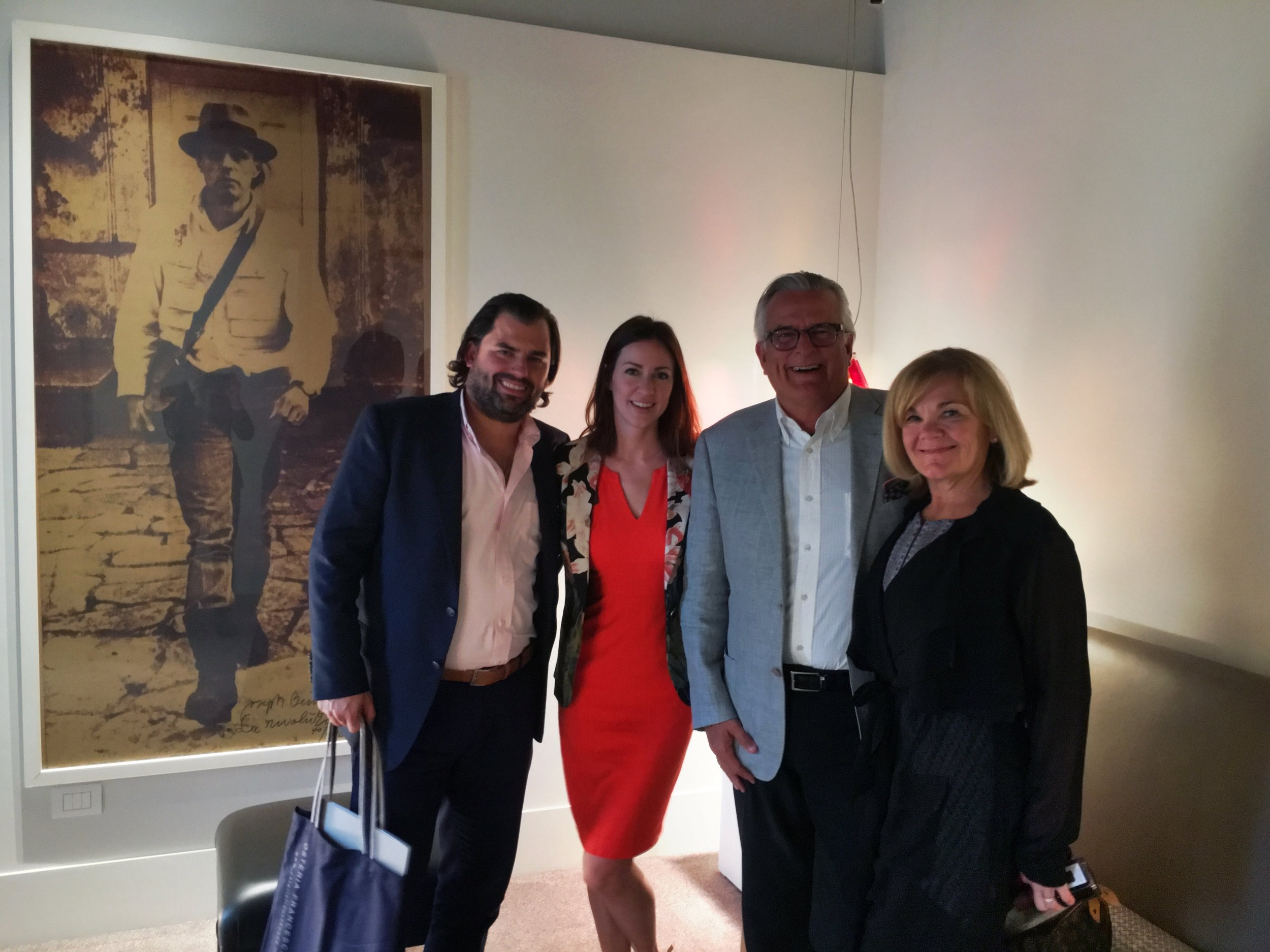 Chef Nick Strawhecker with his wife Michelle and parents on an Italian adventure.