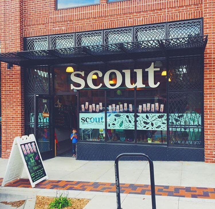 Scout's brilliantly edited new and vintage consignment is all about looking chic and living sustainably. You can find the store at 5018 Underwood Avenue in the Dundee neighborhood of Omaha, NE, online at  ilovescout.com , or popping up at warm-weather events all over the Midwest in the form of Lil' Scoutie, a 1963 Aloha camper-turned-mobile-shop.