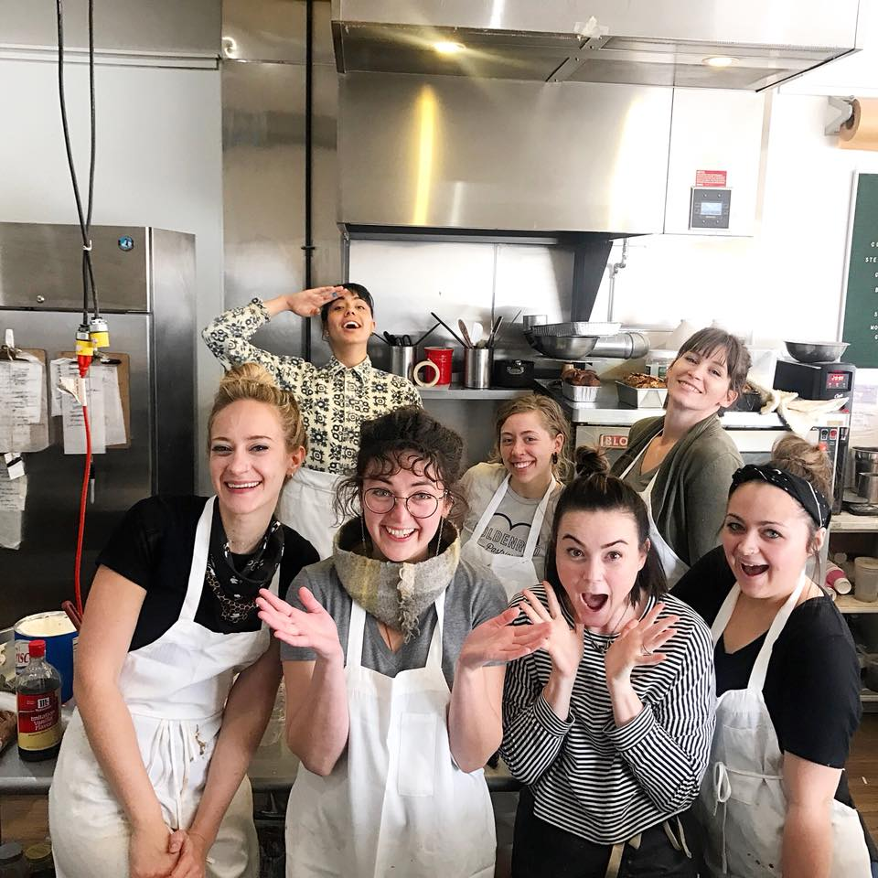 Angela Garbacz (far left) and her all-star, all-women Goldenrod team (photo from Goldenrod Pastries)