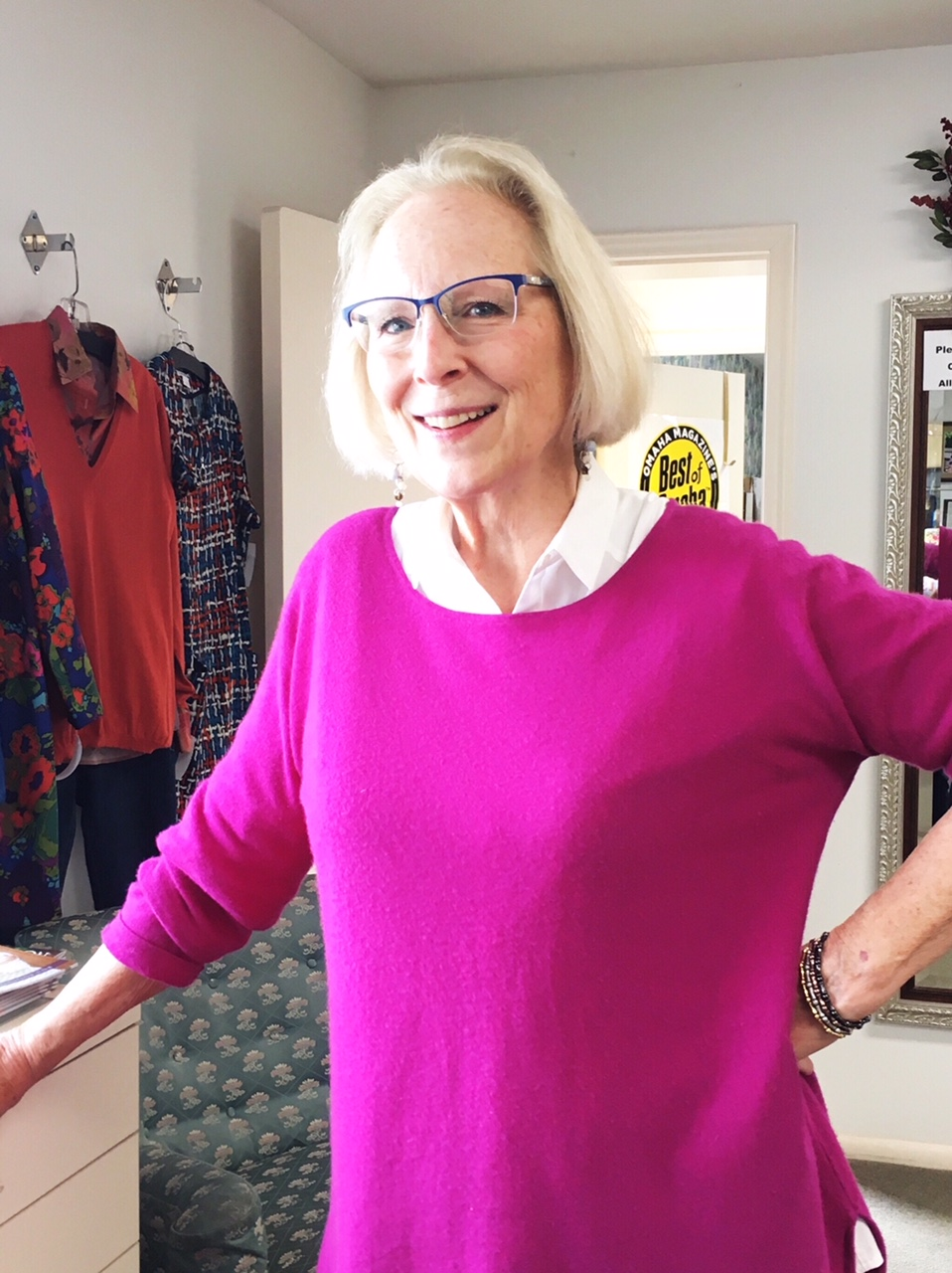 Trish Lonergan at Esther's, a store founded by her mother more than 40 years ago. (Photo by Kathleen Connor, Among Other Things)