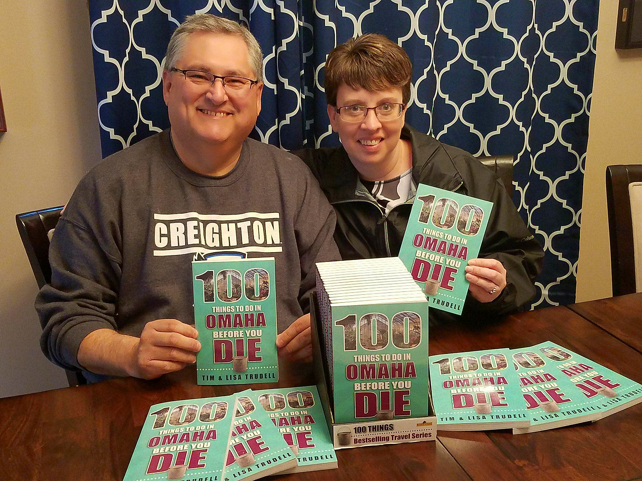 Tim and Lisa with their books.