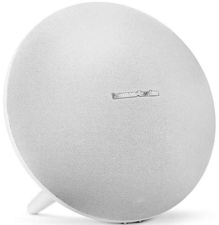 We adore our Sonos for inside, but there are plenty of times when we're out and about and we need some music. Voilà, the  Harmon/Kardon Mini Portable Wireless Speaker.  So chic, such crisp sound and under $100 every day of the week.