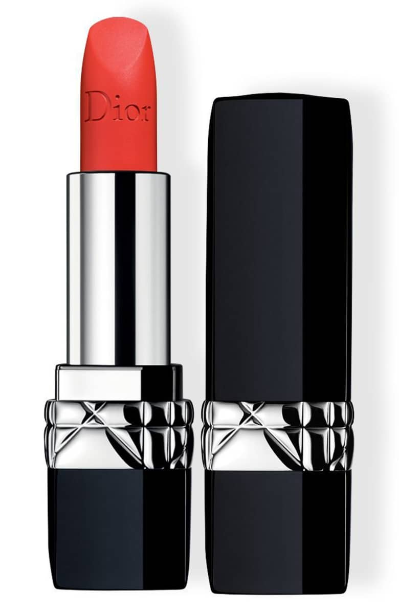 The holidays were not made for a nude lip. Couture Color Rouge Dior Lipstick in Strong Matte, $32 at  Nordstrom .