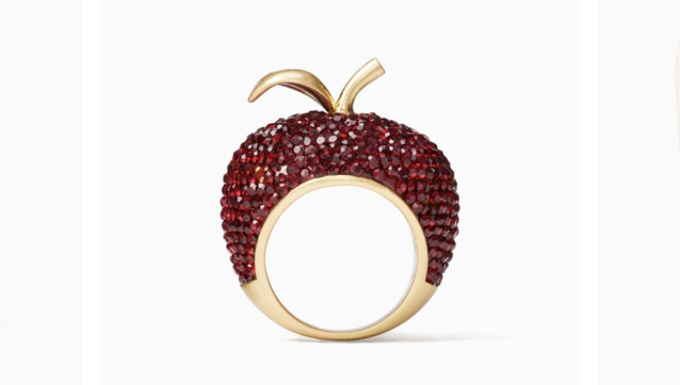 What better than a big apple cocktail ring for a girl who was born to have all of New York at her fingertips? Dashing Beauty Apple Ring, $128 at  Kate Spade .