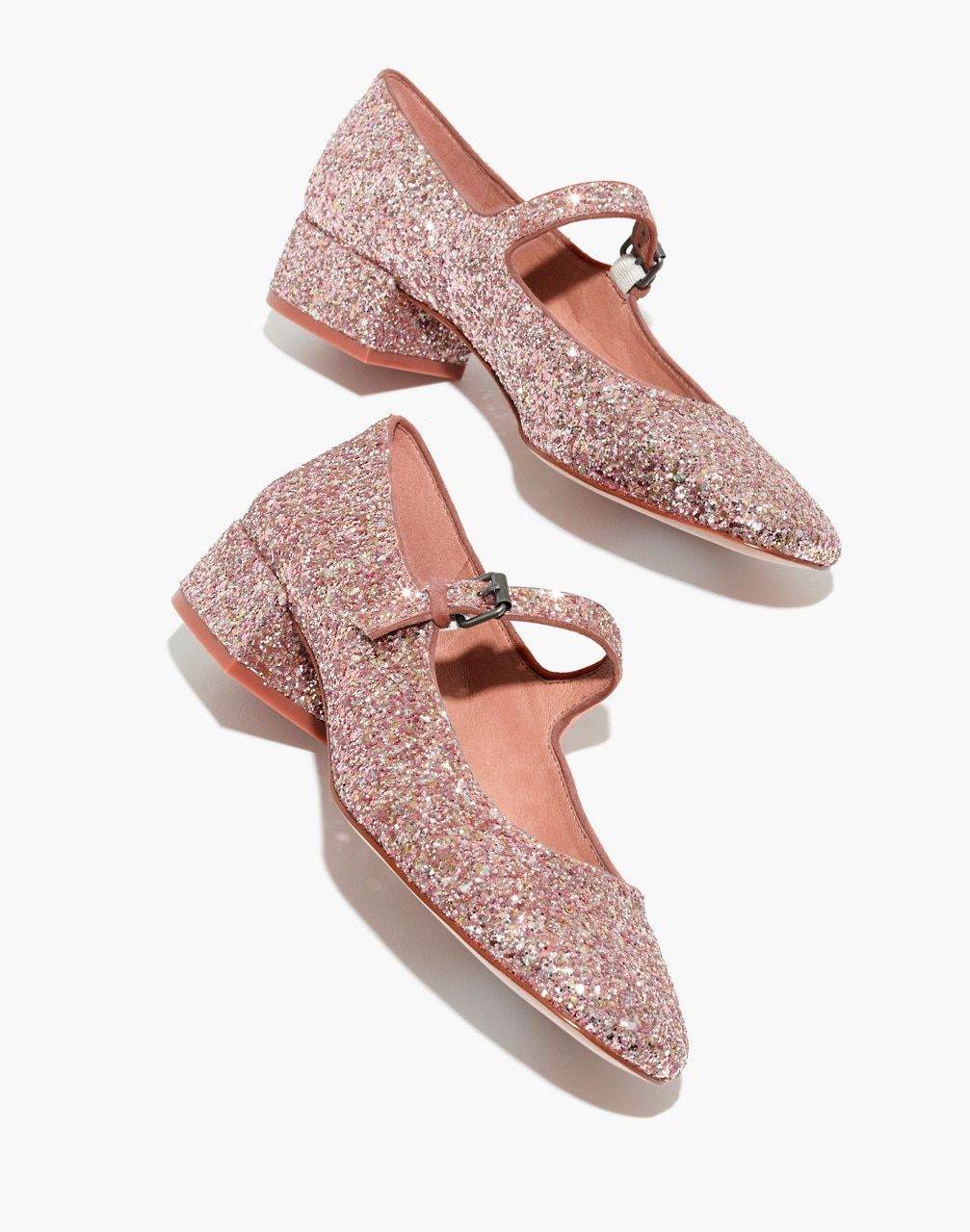 These sparkly shoes may be all you ever need for your forever holiday wardrobe. The Delilah Mary Jane in glitter by Madewell, $90 at  Madewell .