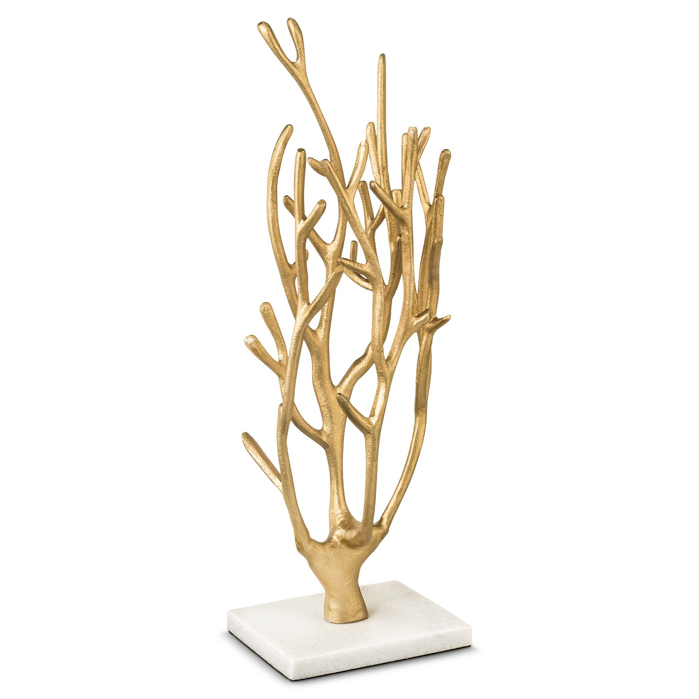 At the end of the day, we all need a place to hang our jewelry. And this coral stand pays subtle homage to Pantone's 2019 color of the year, Living Coral, without clashing with your décor — or upstaging your tennis bracelet. Marble and Coral Jewelry Tree Storage in gold by West Emory, $18 at  Target .