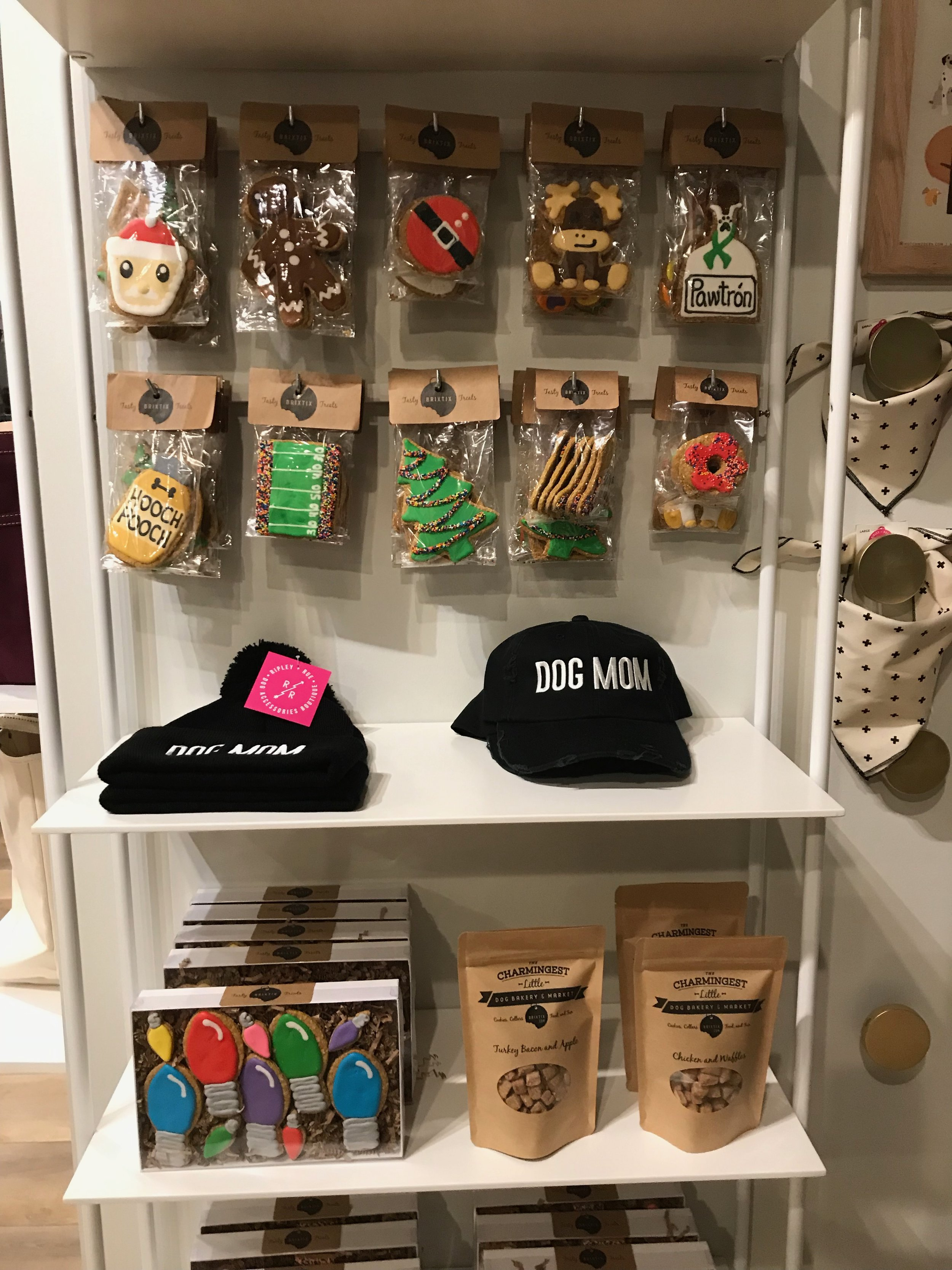 Dogs get their own section of locally (and lovingly) made biscuits, accessories and other wag swag at Made in Omaha.