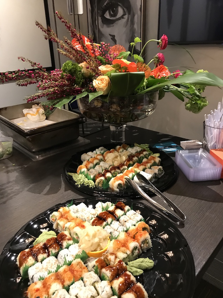All eyes were on the Butterfish sushi and Bouquet floral arrangements at The Studio by JH.
