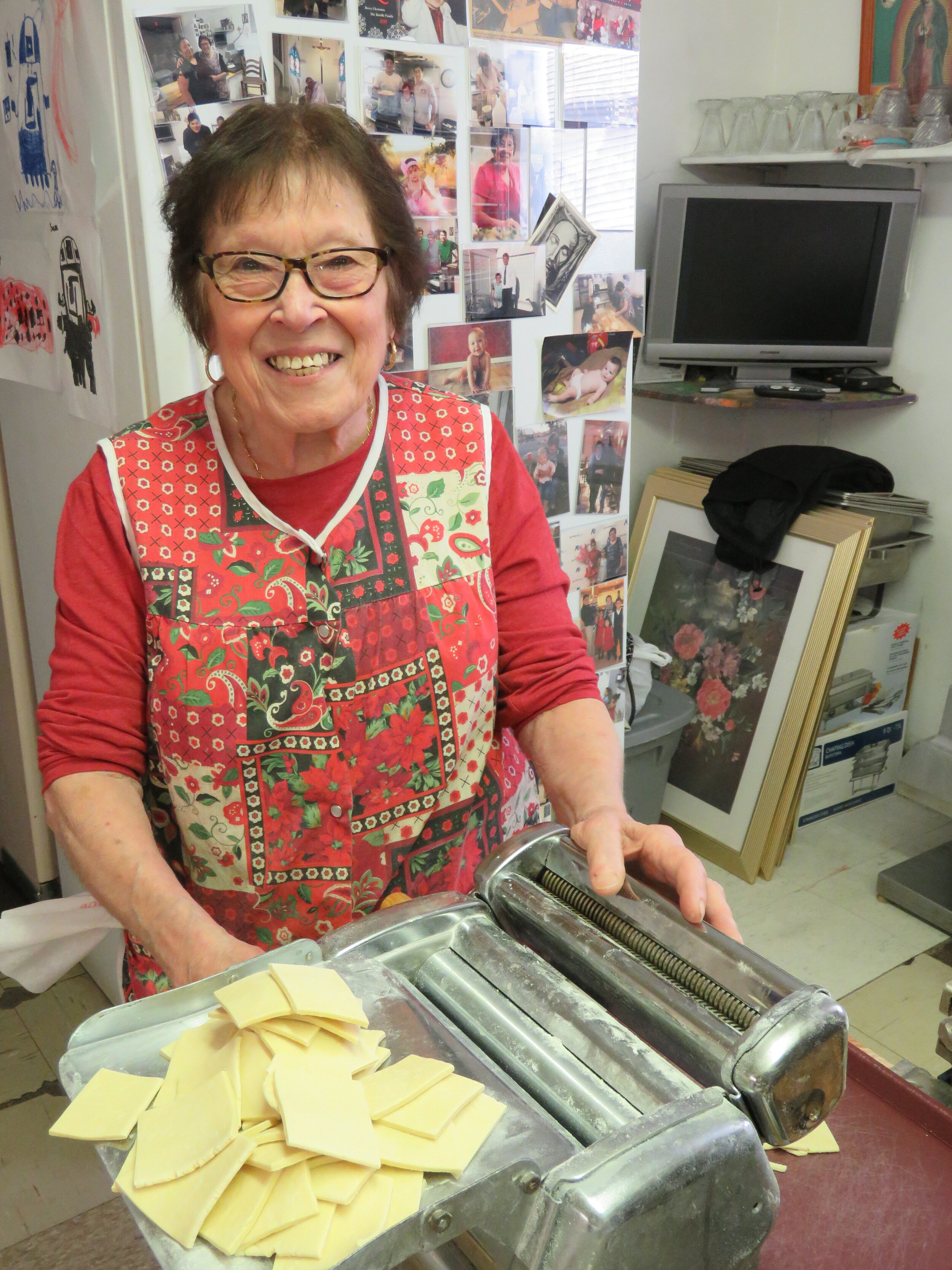 At Malara's, the homemade ravioli has been produced in the same pasta maker since Caterina Malara sold them out of her home as a young immigrant widow with four children to support. Photo courtesy of Lisa and Tim Trudell.