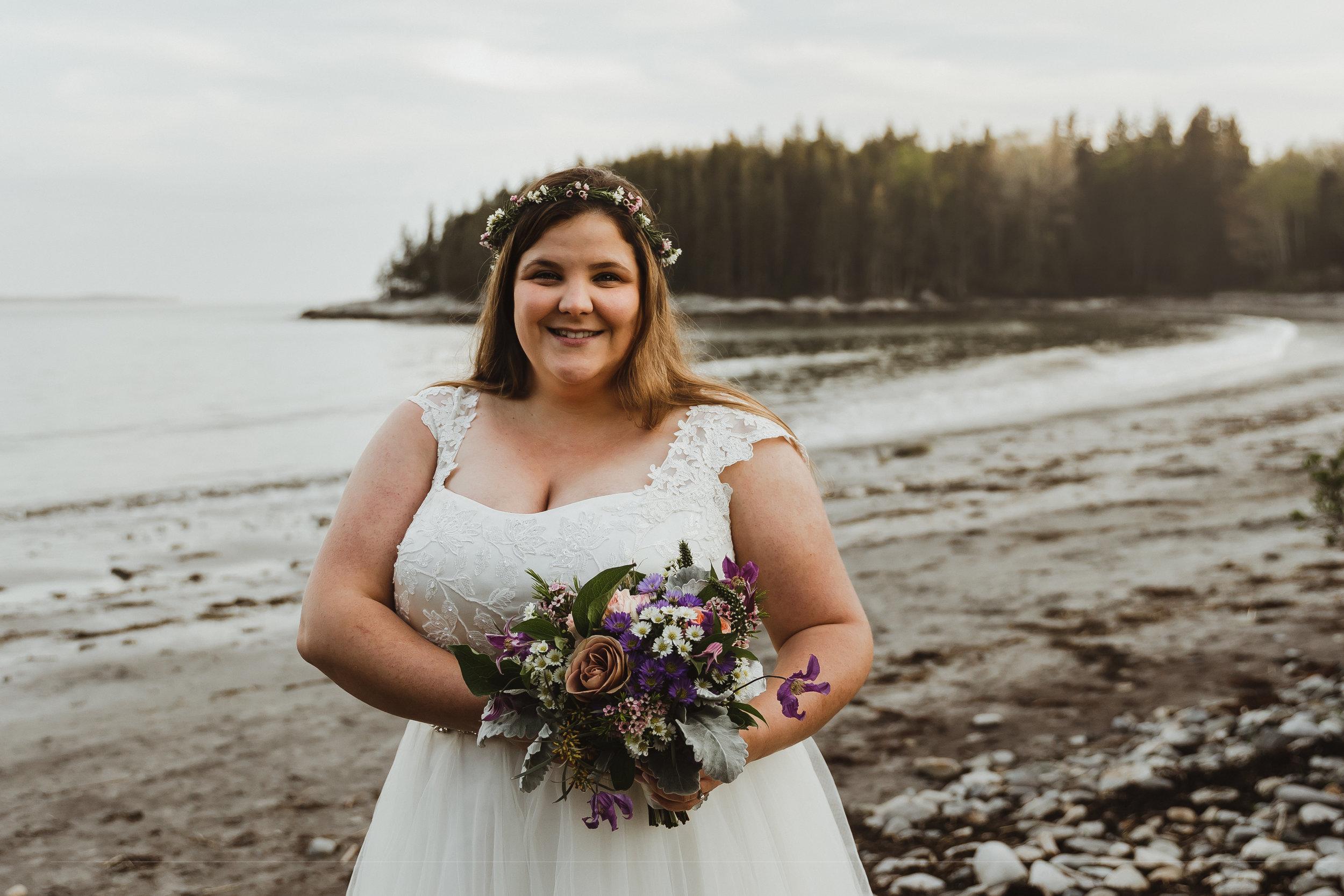 coastal wedding plus size couple rockland maine 2