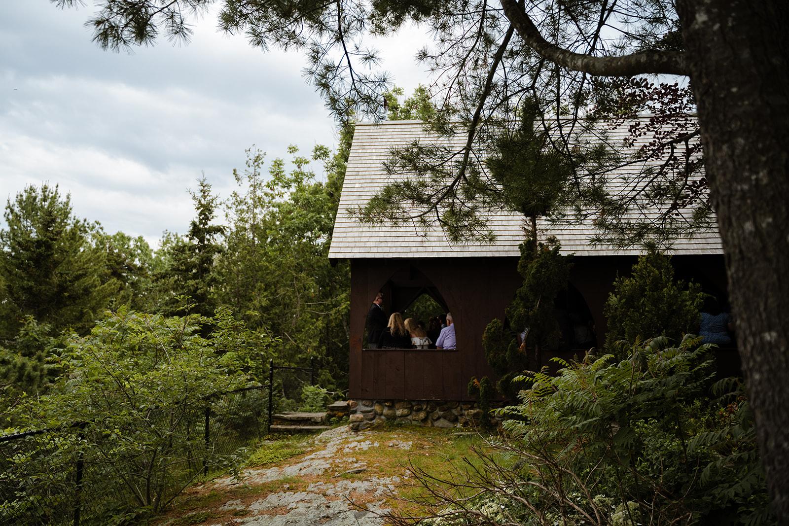 coastal wedding plus size couple rockland maine vesper hill childrens chapel 13