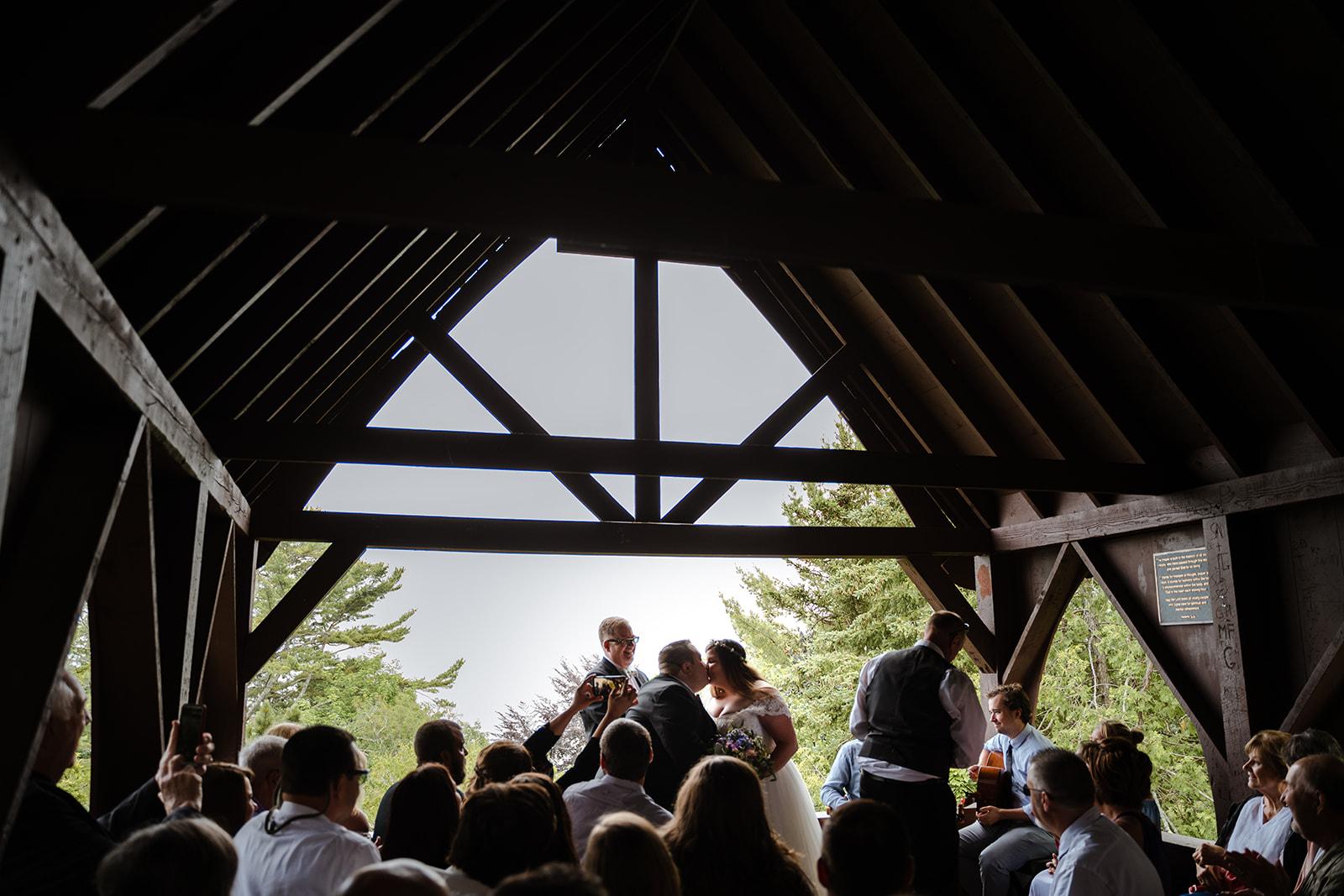 coastal wedding plus size couple rockland maine vesper hill childrens chapel 39