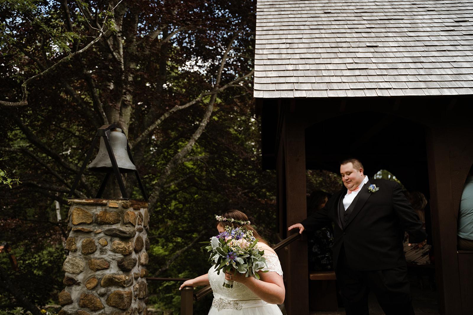 coastal wedding plus size couple rockland maine vesper hill childrens chapel 41