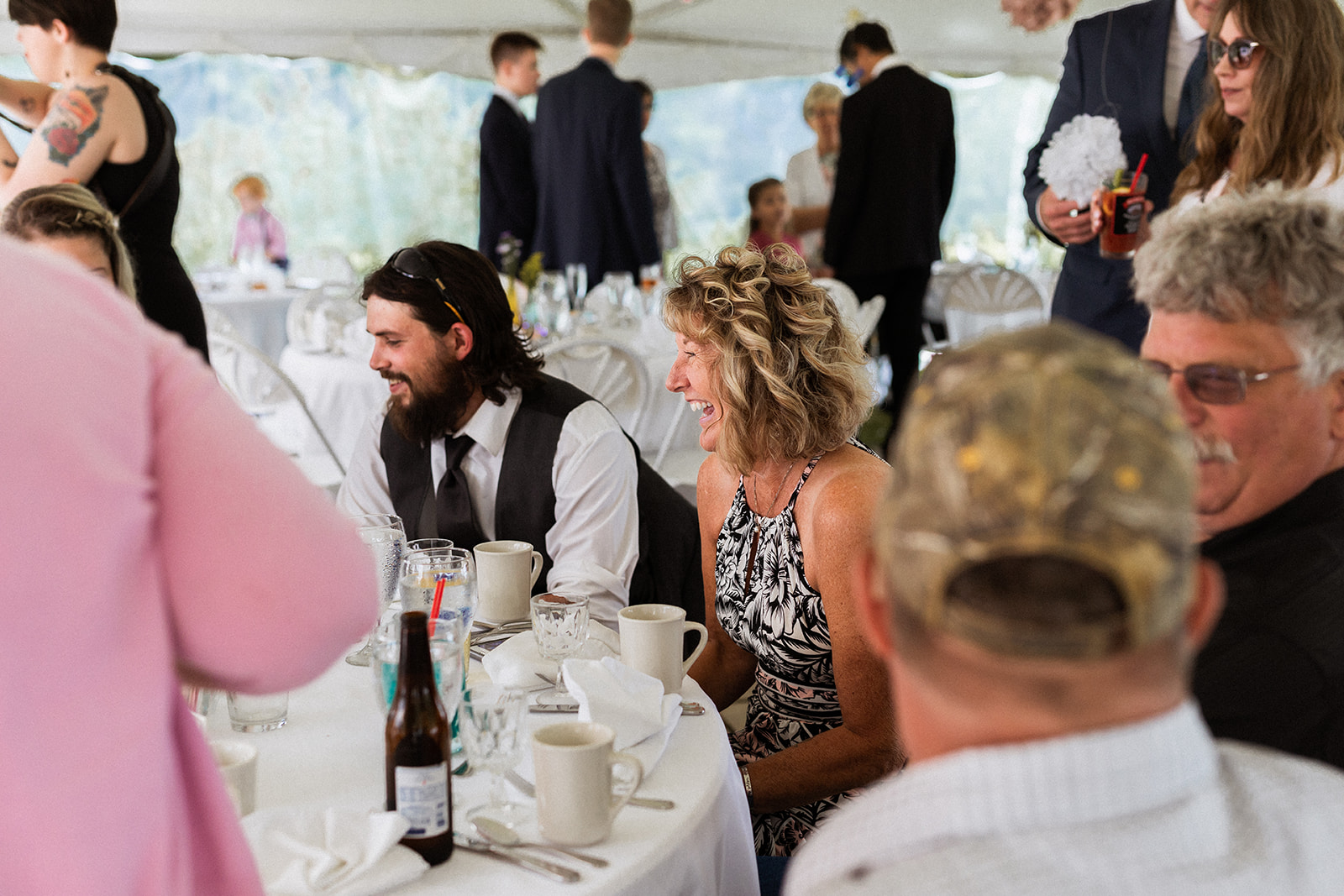 Belfast Maine Coastal Relaxed Oceanside Candid Brunch Wedding 99