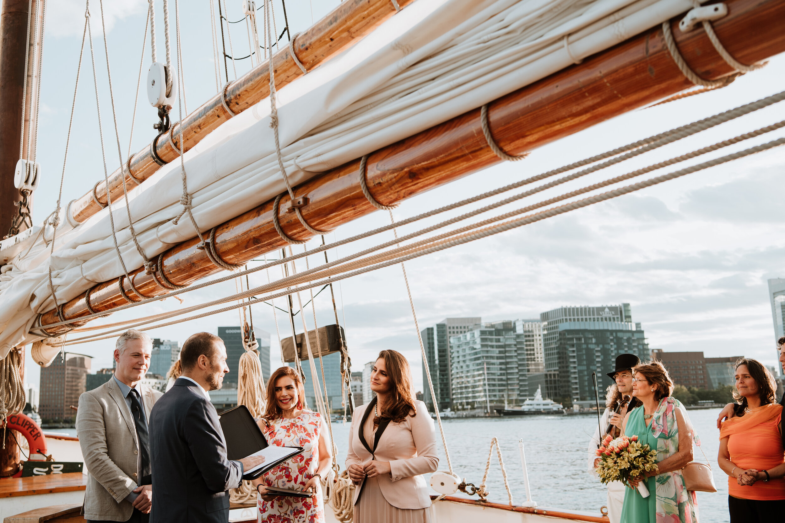 Boston Wedding Liberty Clipper Intimate Wedding Photography 19