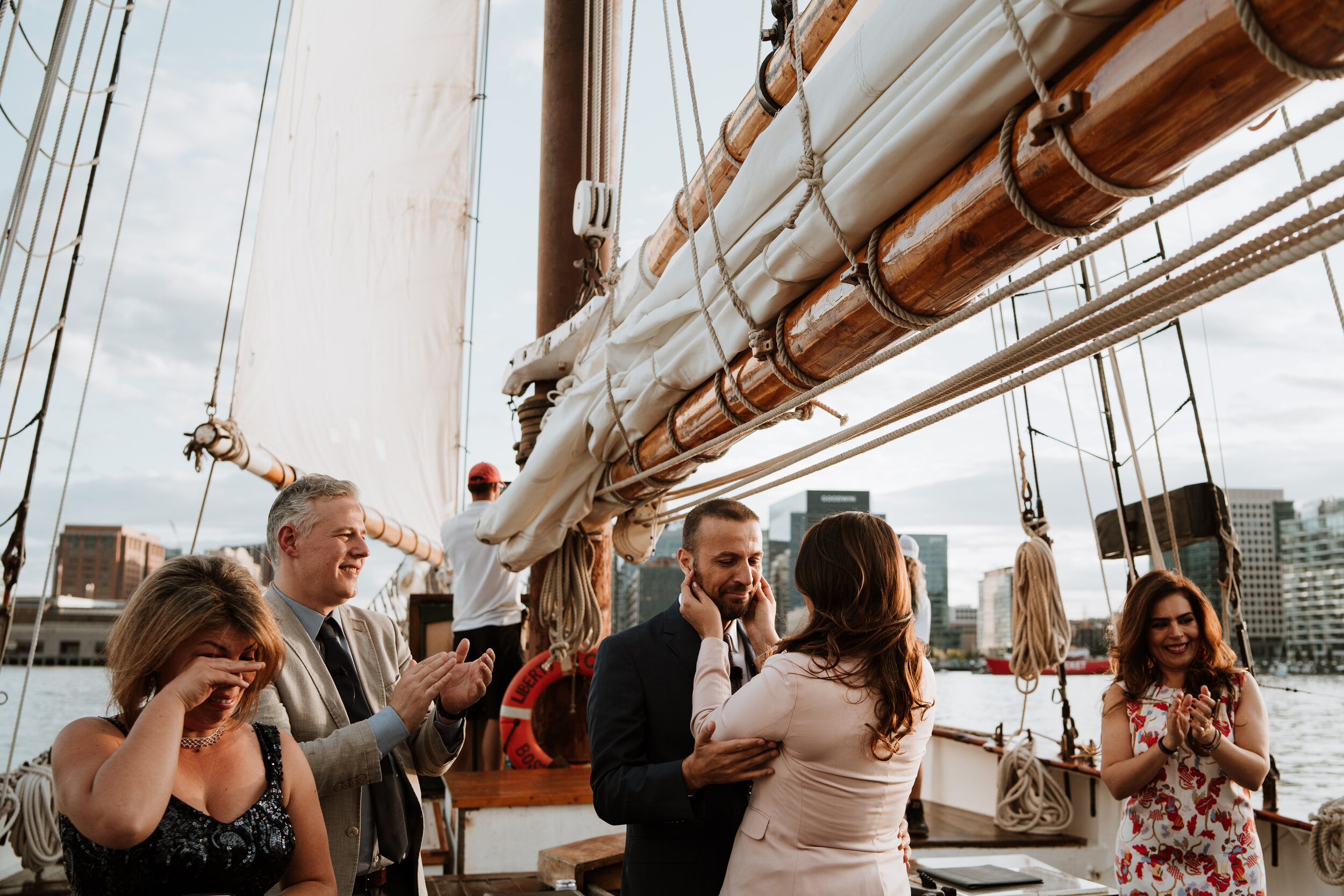 Boston Wedding Liberty Clipper Intimate Wedding Photography 26