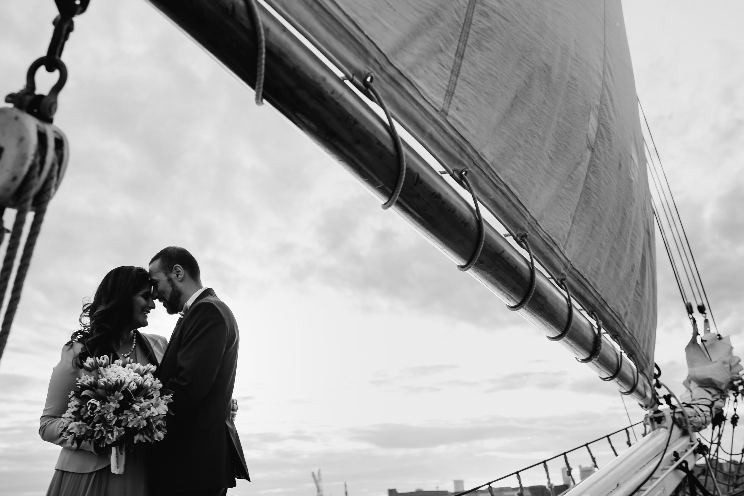 Boston Wedding Liberty Clipper Intimate Wedding Photography 31