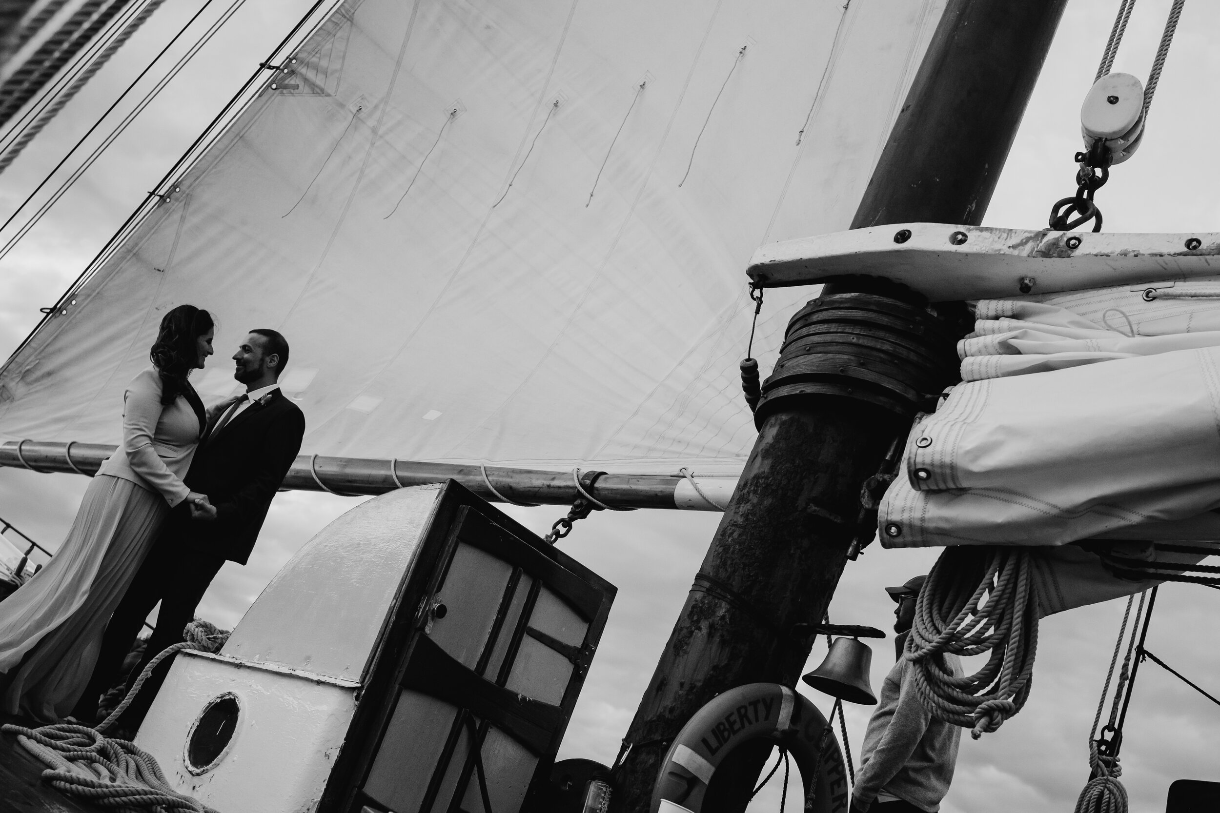 Boston Wedding Liberty Clipper Intimate Wedding Photography 36
