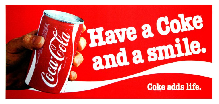 "1979 Coke Ad evokes happiness as by use of it's ad tagline ""Have a Coke and a smile."""