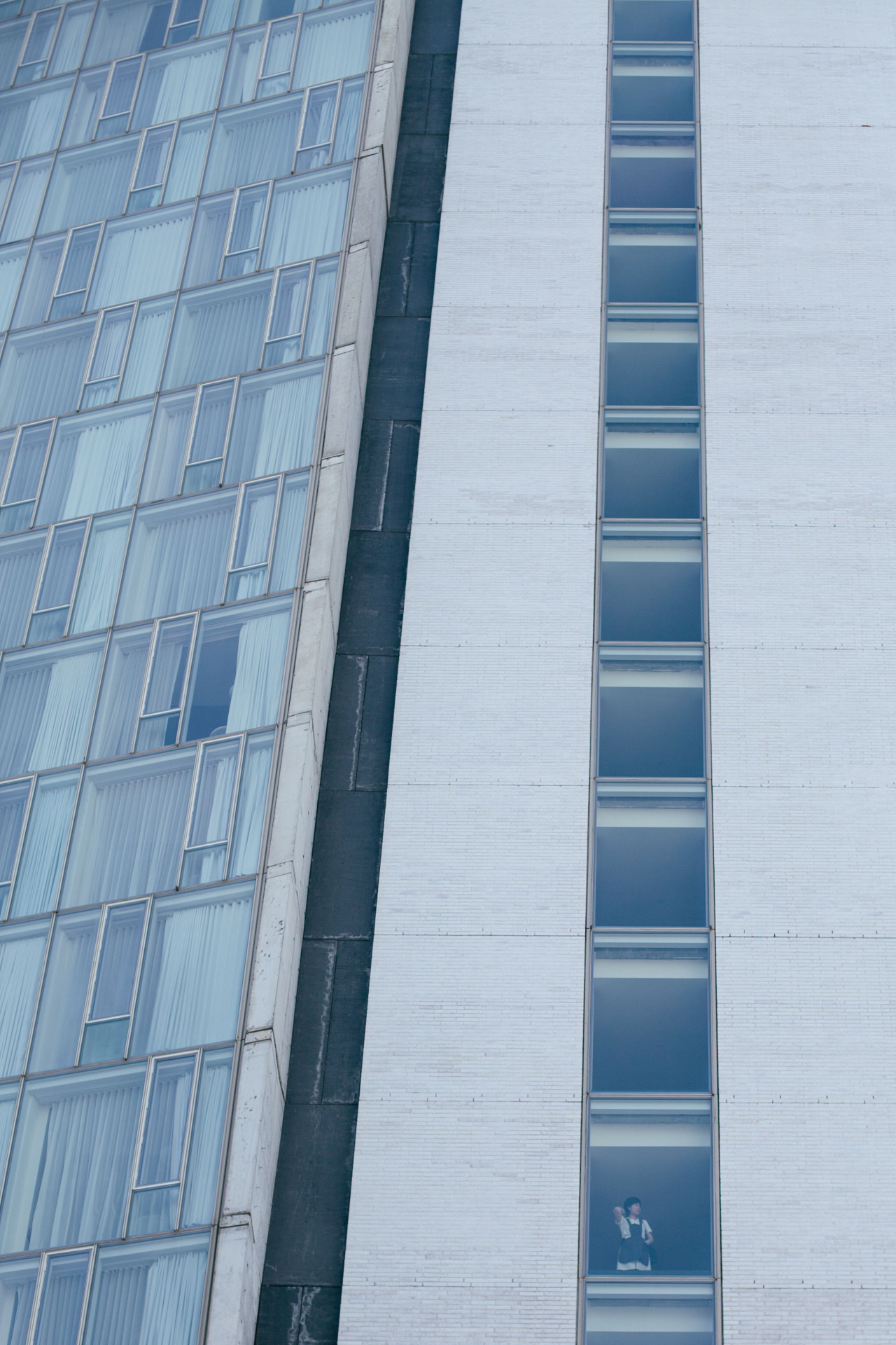 Looking out.  The Standard at the Highline. February 2015.