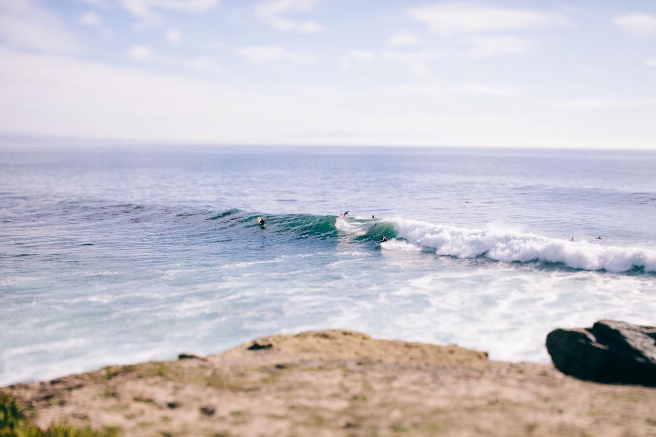 Surf Zone.  Steamers Lane, Santa Cruz - January 2015.