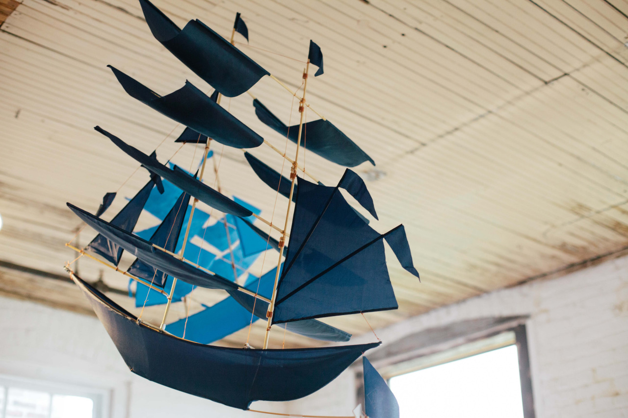 Sail kite by  Haptic Lab  for the Creative Mornings Summit. Brooklyn - October 2013.