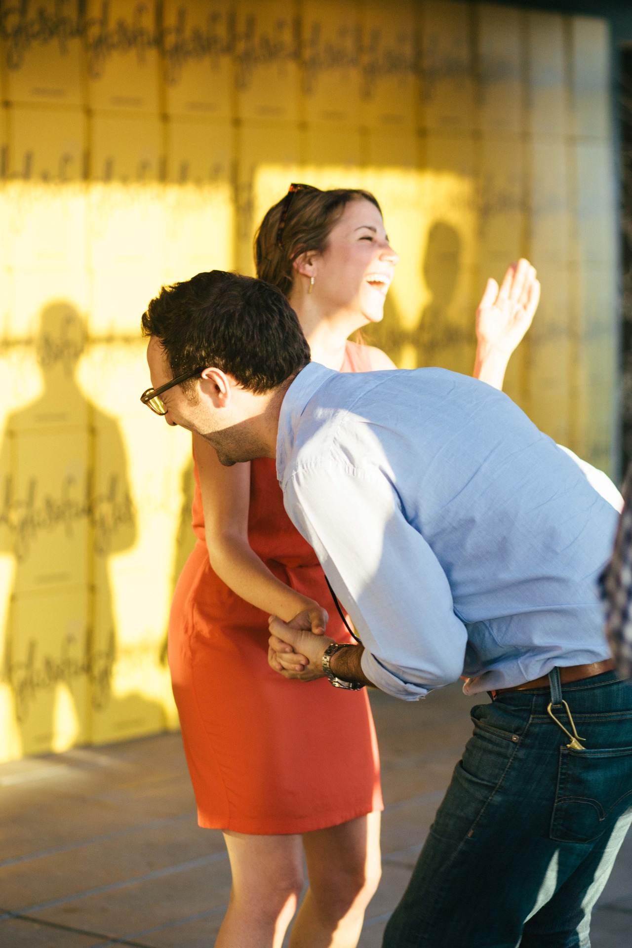 Dancing & Laughing at a  Glassful  party. Lower East Side - June 2014.