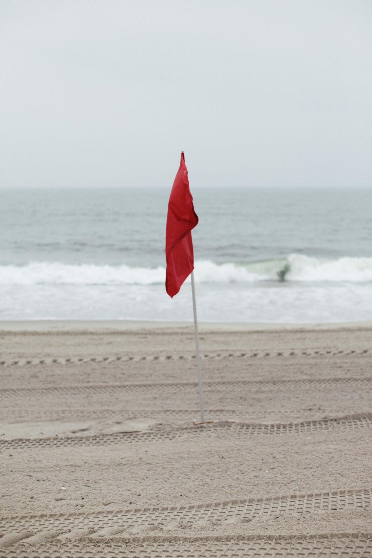 No swimming. Rockaway Beach - June 2014.