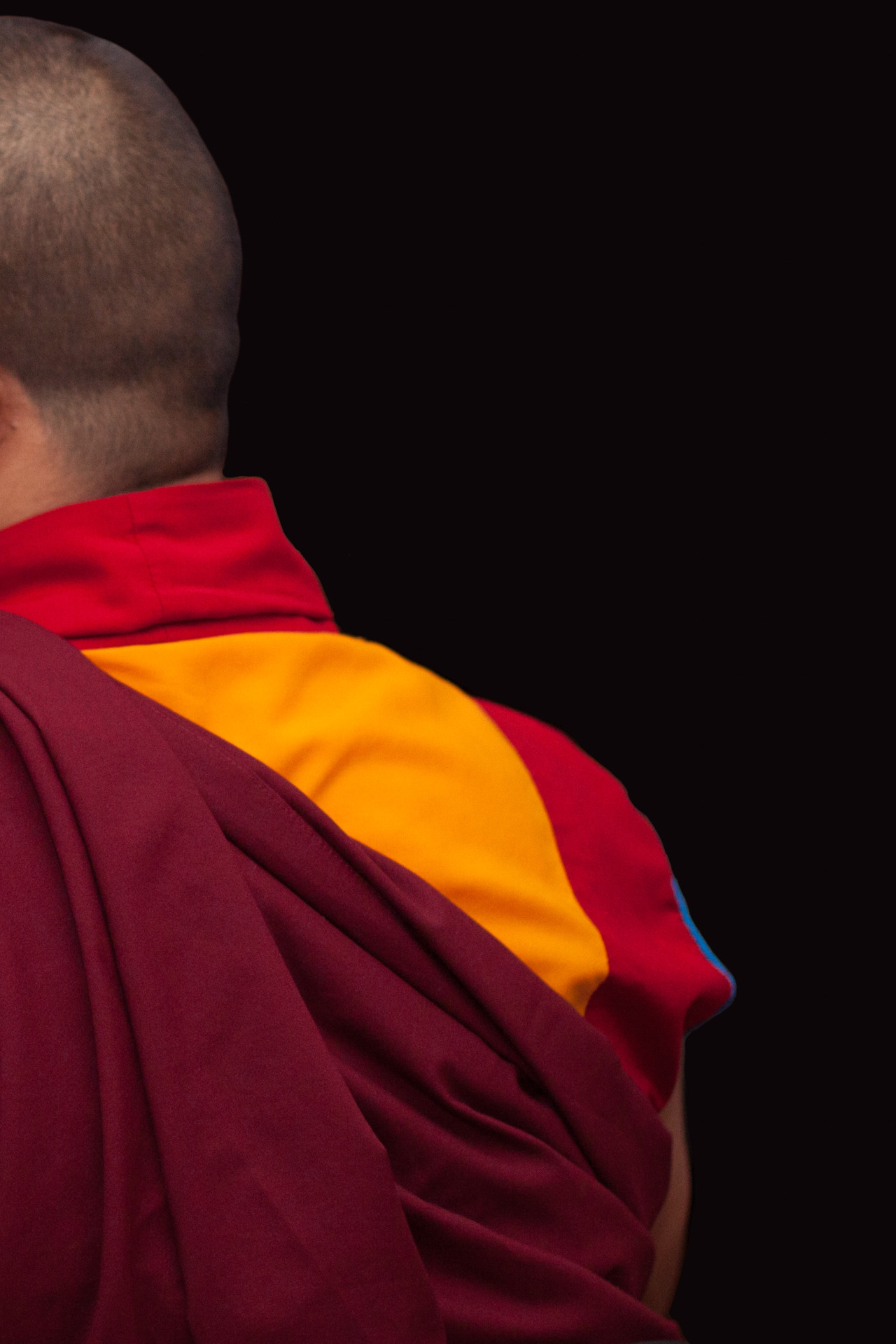 Tibetan monk at  The Feast Worldwide . New York - June 2014.