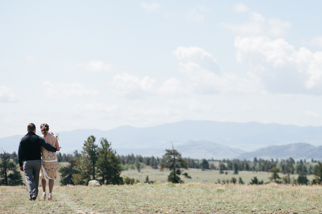 Just Married. South Park, Colorado - June 2014.