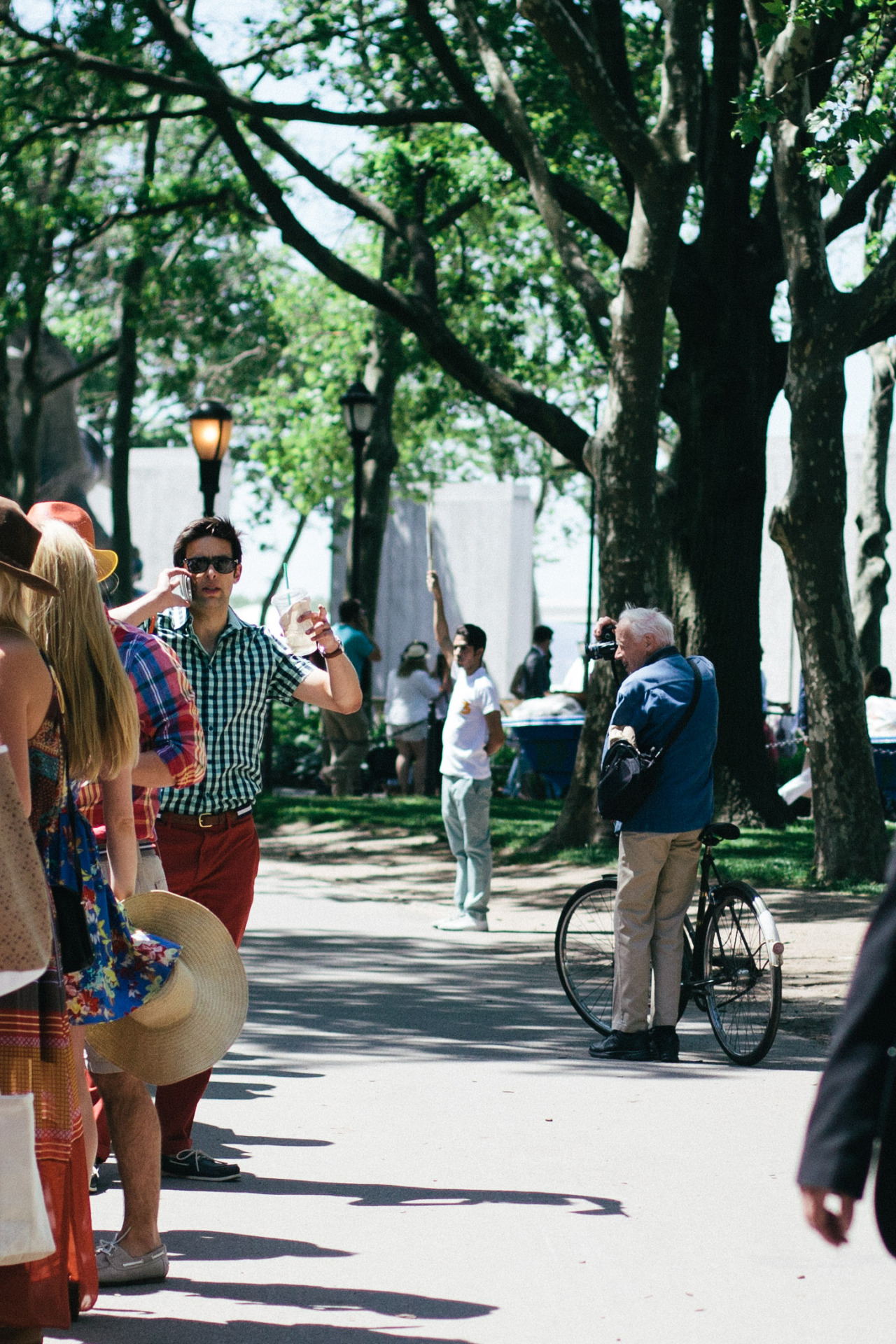 Bill Cunningham - Battery Park before the Veuve Cliquot Polo Classic. May 2014.