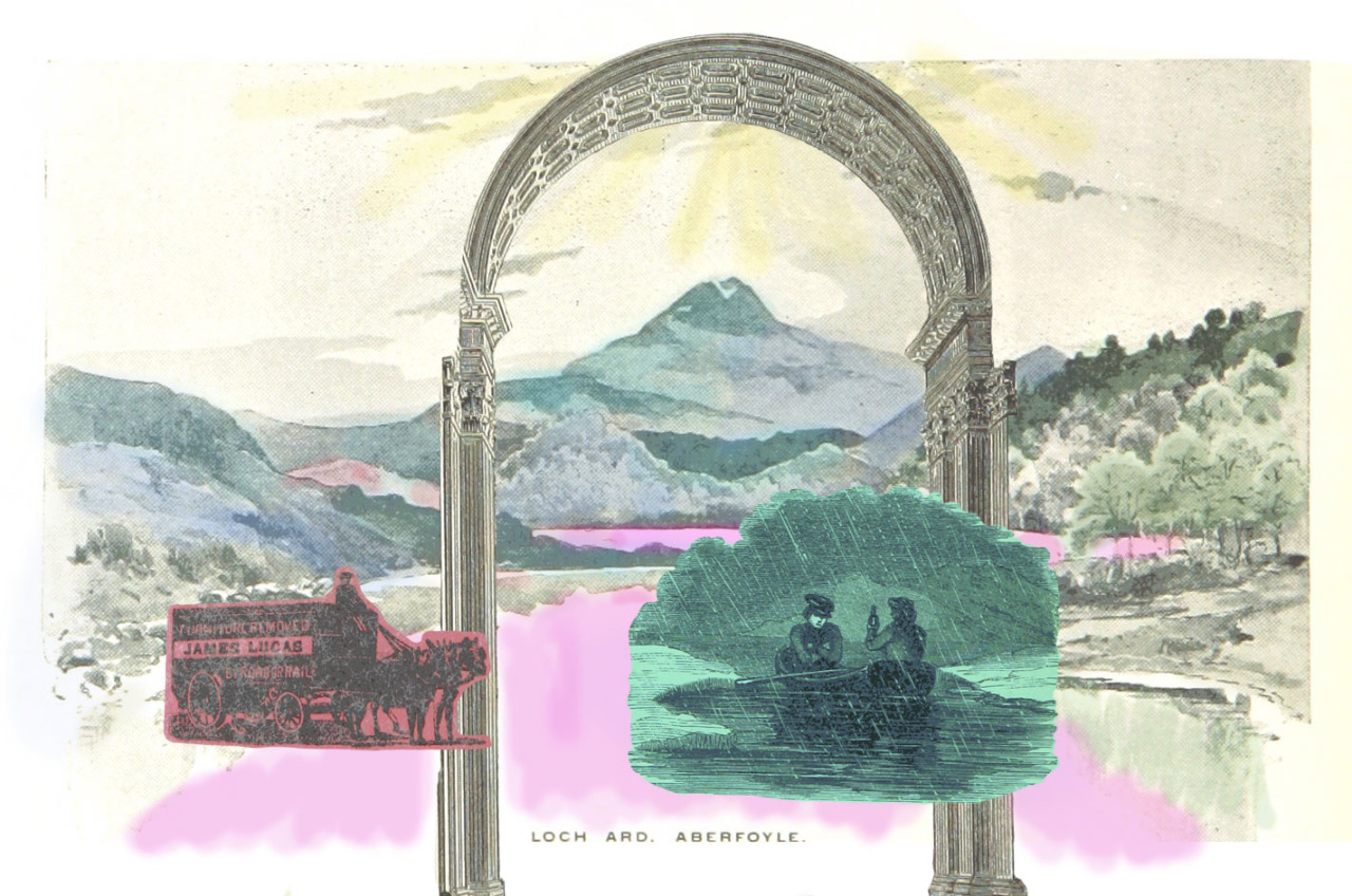 A collage made from images out of the British Library's  flickr  collection, which is in the public domain.
