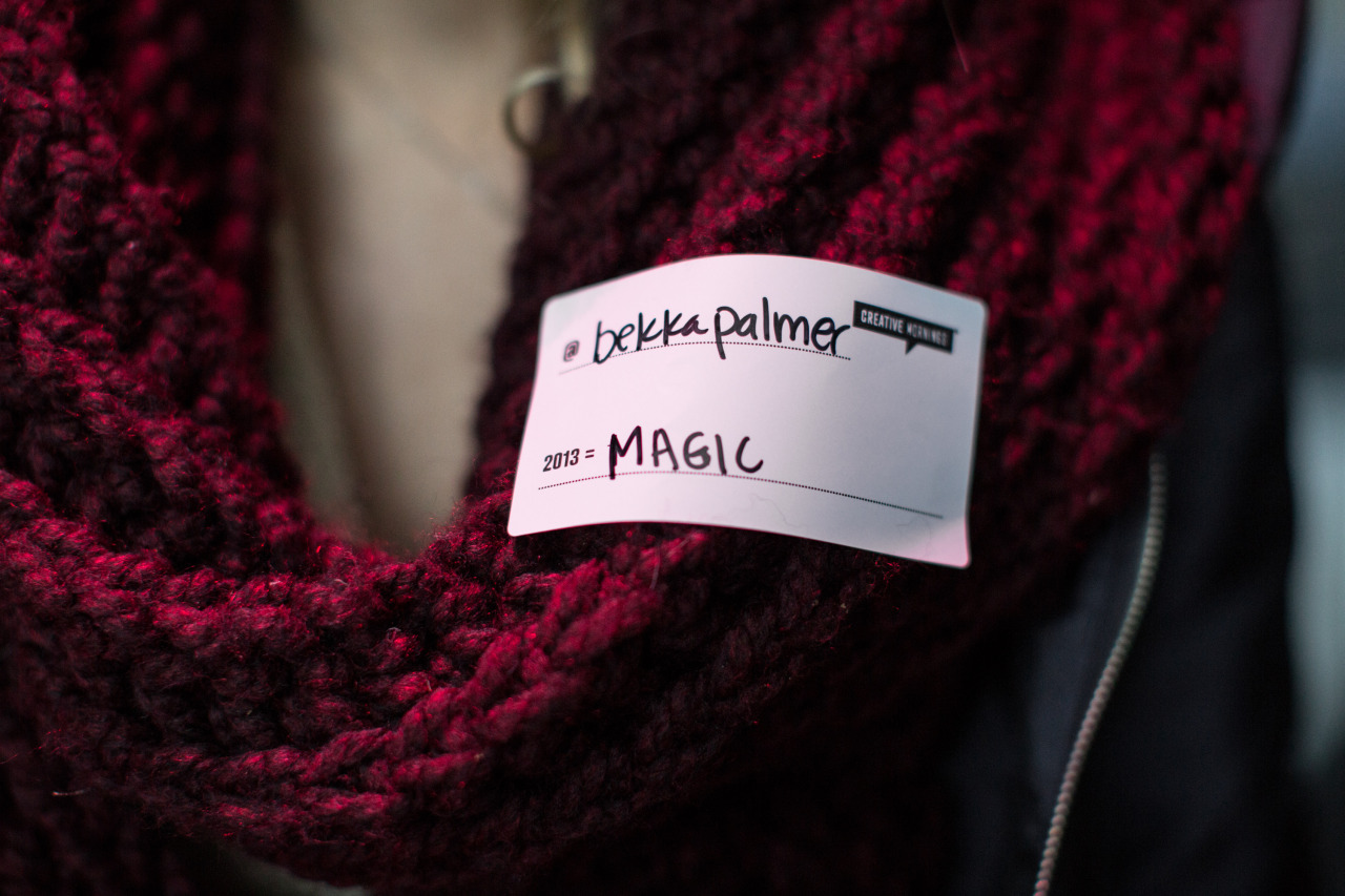 I completely forgot this is what I wrote down last December for what 2013 would mean for me. I think I need to make a little more magic to live up to this.       2013 =     Magic       @bekkapalmer   Icebreaker Tag  at  CreativeMornings /NewYork December 2012 with Audience Takes the Stage.