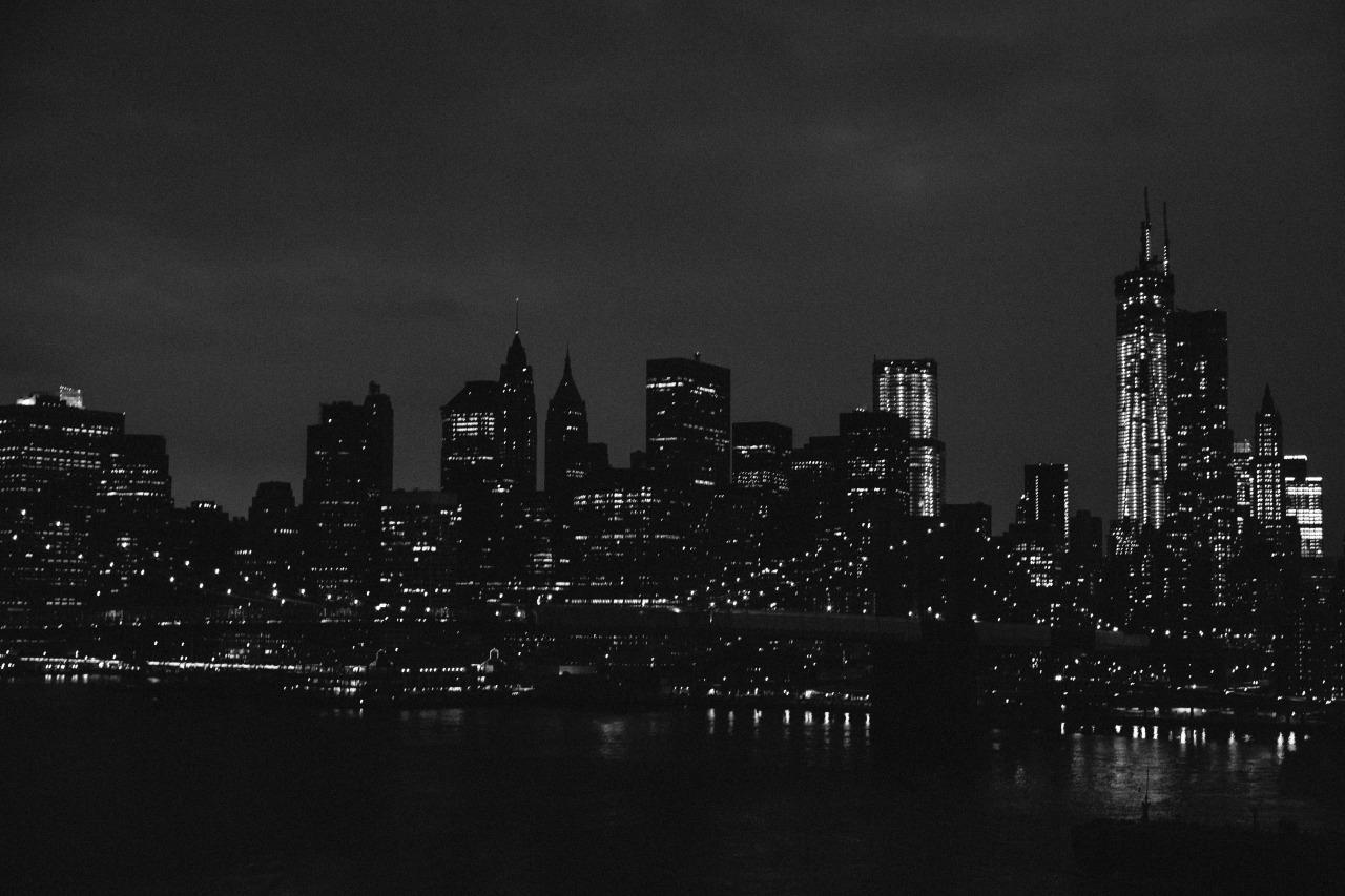 New York first: Walking across the Manhattan Bridge (at sunset, no less).