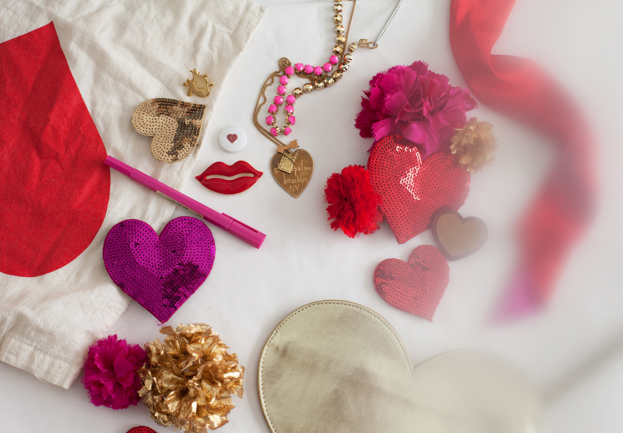 Happy Valentine's Day!    // accessories from  ban.do ,  Aymie Spitzer ,  I Heart Guts  and  Pumpkinseed Jewlery