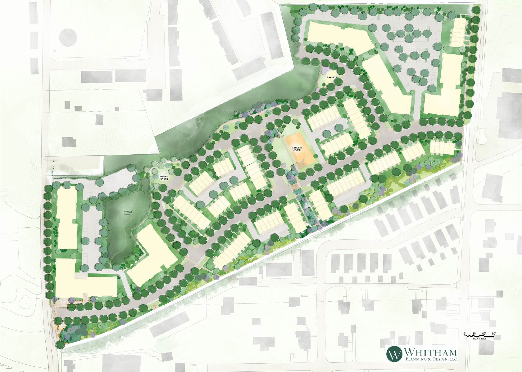 Maplewood Redevelopment  | Entitlement Coordination • Project Approvals • Project Coordination • Public Outreach • Zoning• Environmental Impact Statement • Site Planning • Landscape Design