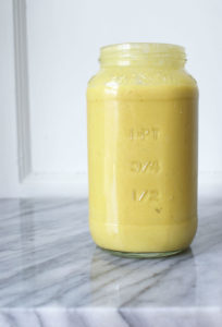 Anti Inflammatory Mango Protein Smoothie 1 scoop vanilla protein powder 1 cup coconut milk ½ cup filtered water ½ cup frozen mango ½ banana 2 teaspoons collagen powder 1 teaspoon fresh grated turmeric or turmeric powder 1 teaspoon fresh grater ginger or ginger powder Throw ingredients in a blender and blend until smooth.