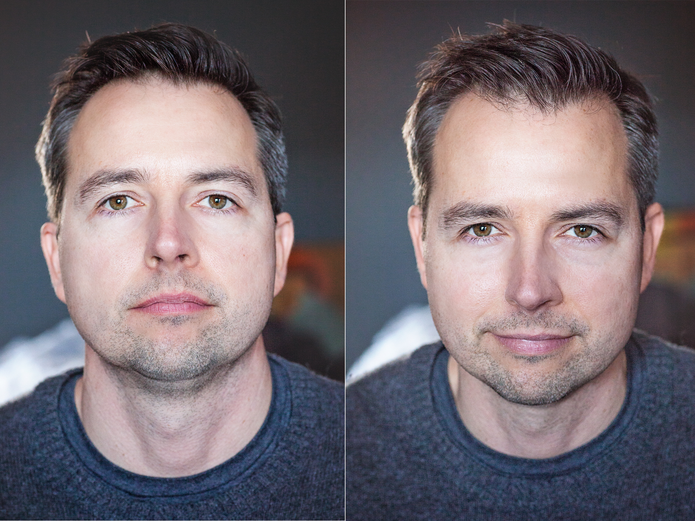 My husband mastered the squinch between conference calls. It is easy with a visual reference and a little practice, and the results can be dramatic!