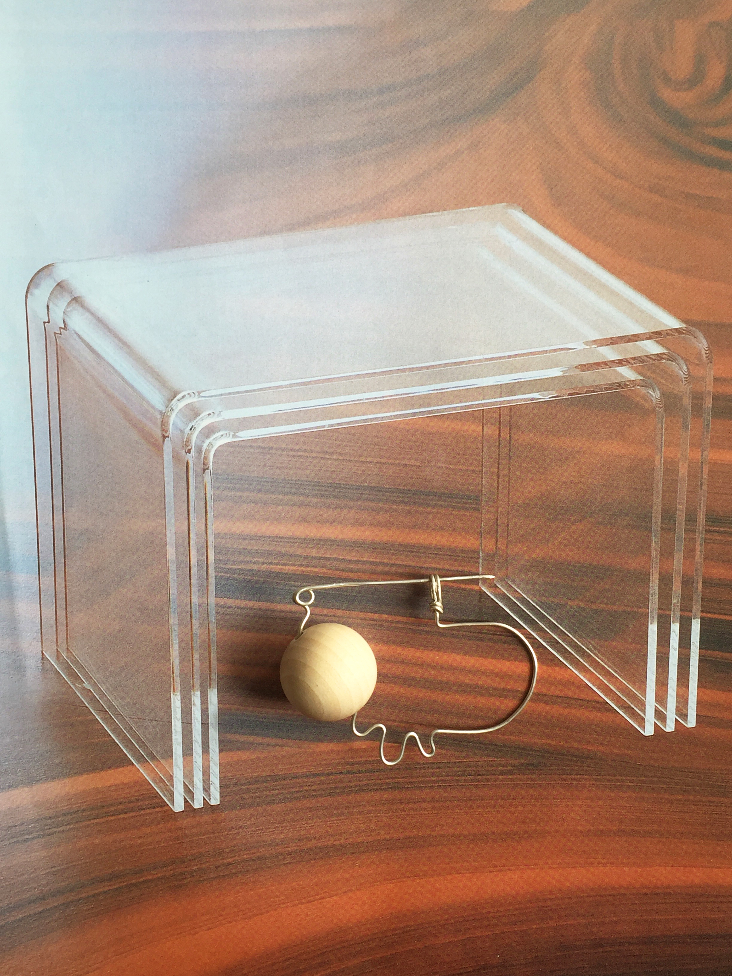6. Wooden ball & silver pin