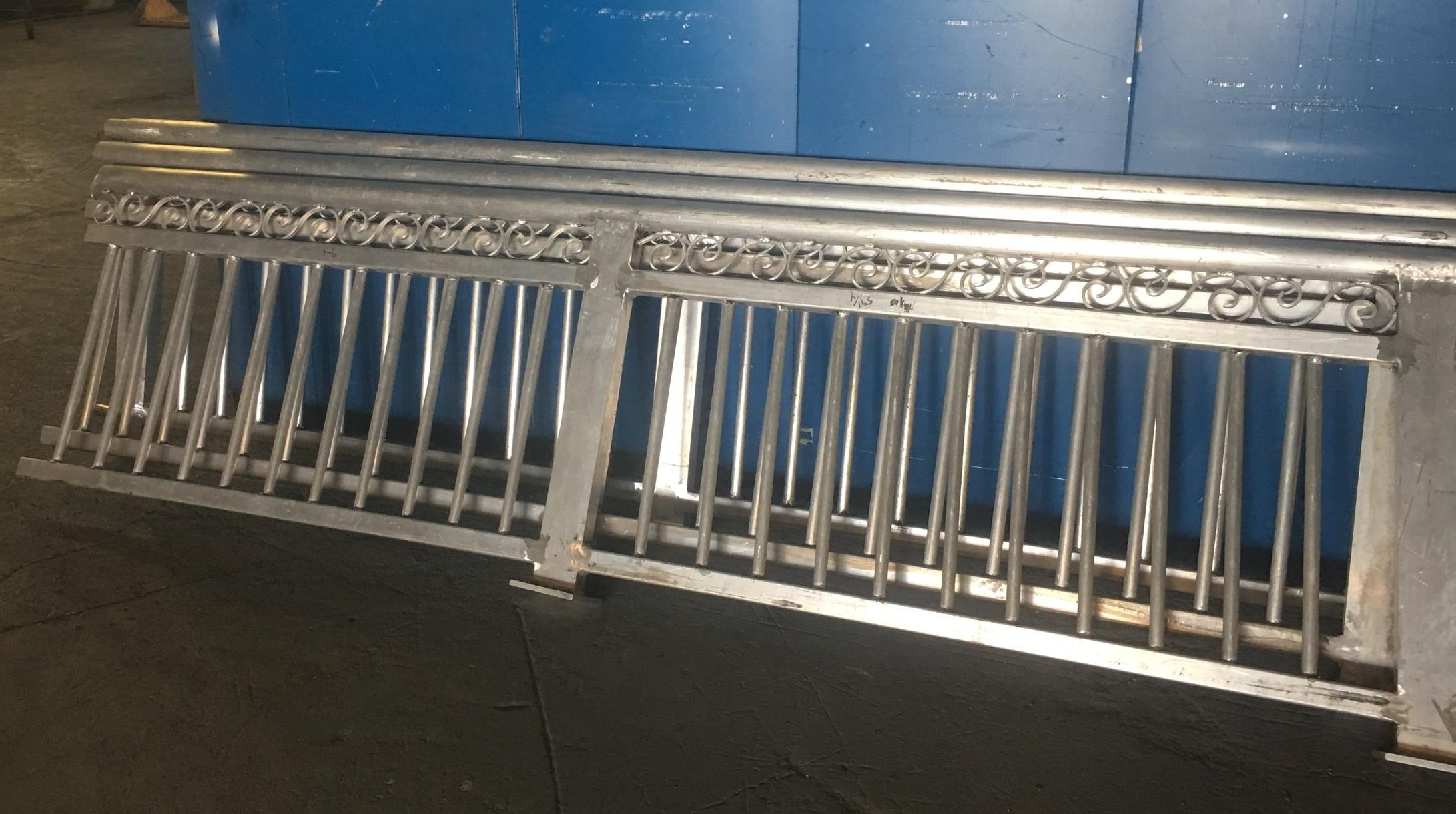 Decorative Rail Before Paint