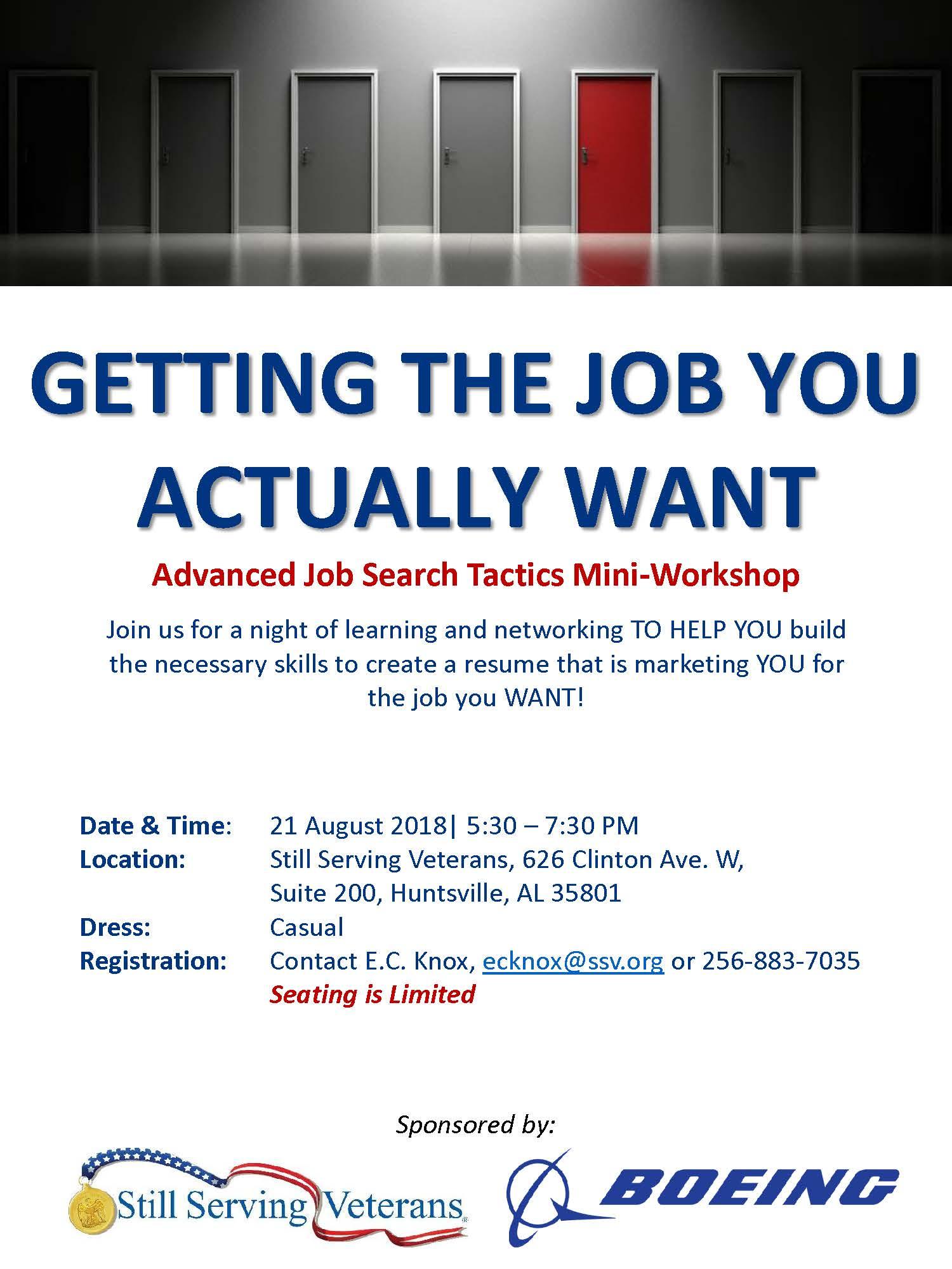 Flyer-Advanced Job Search Tactics Mini-Workshop_21AUG2018.jpg