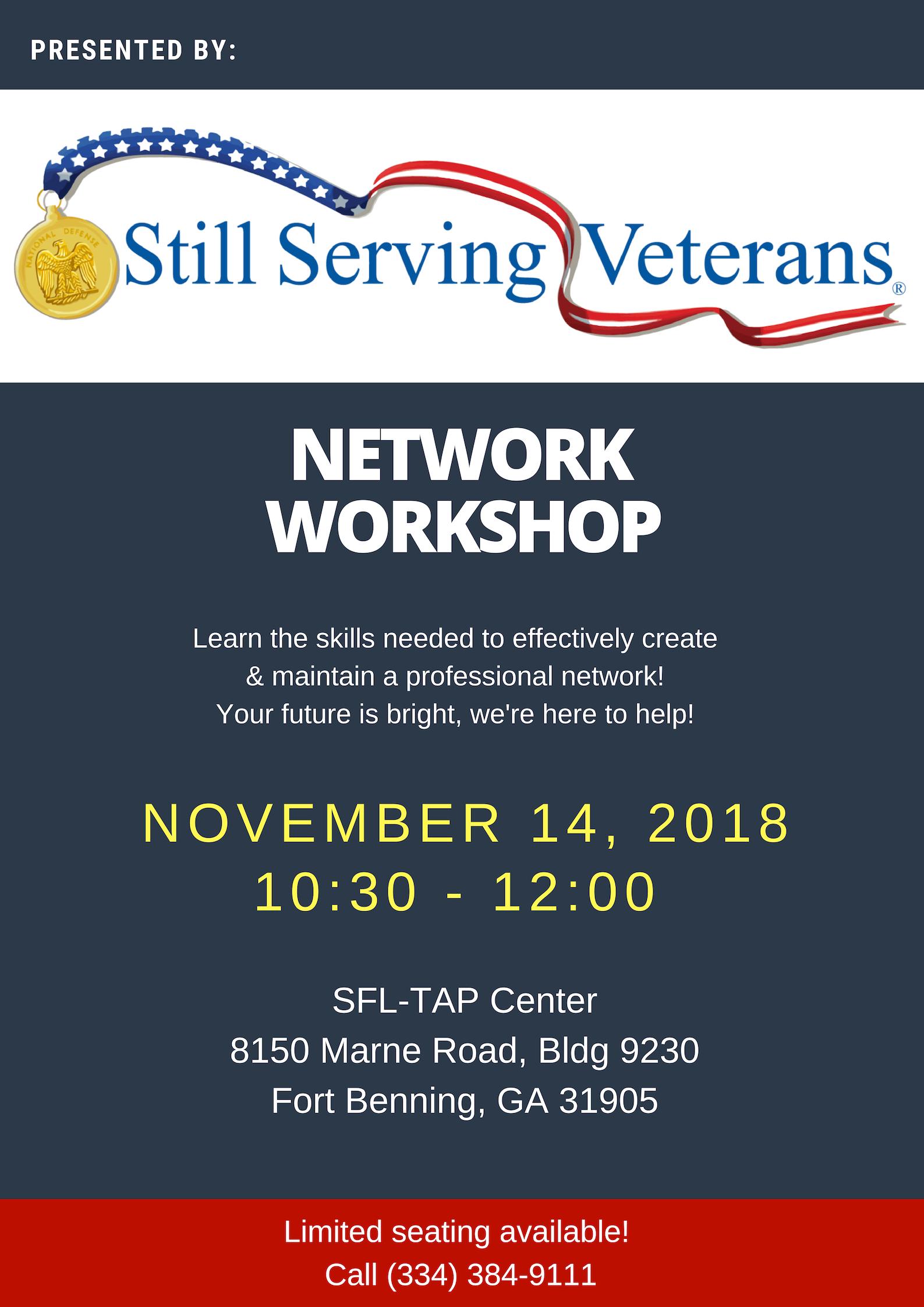 SSV Networking Workshop Flyer