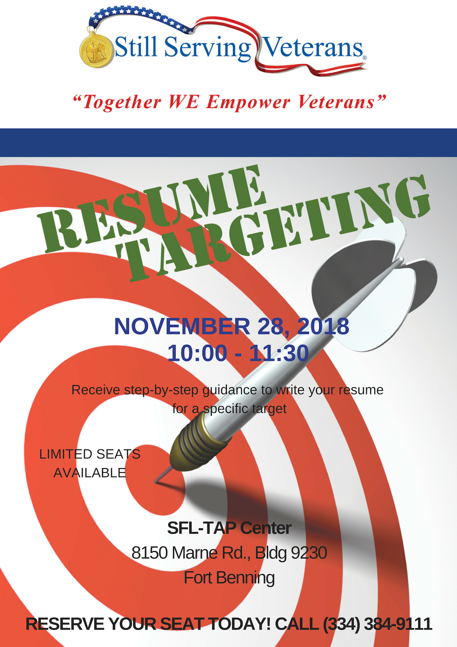 Resume Targeting Workshop Flyer