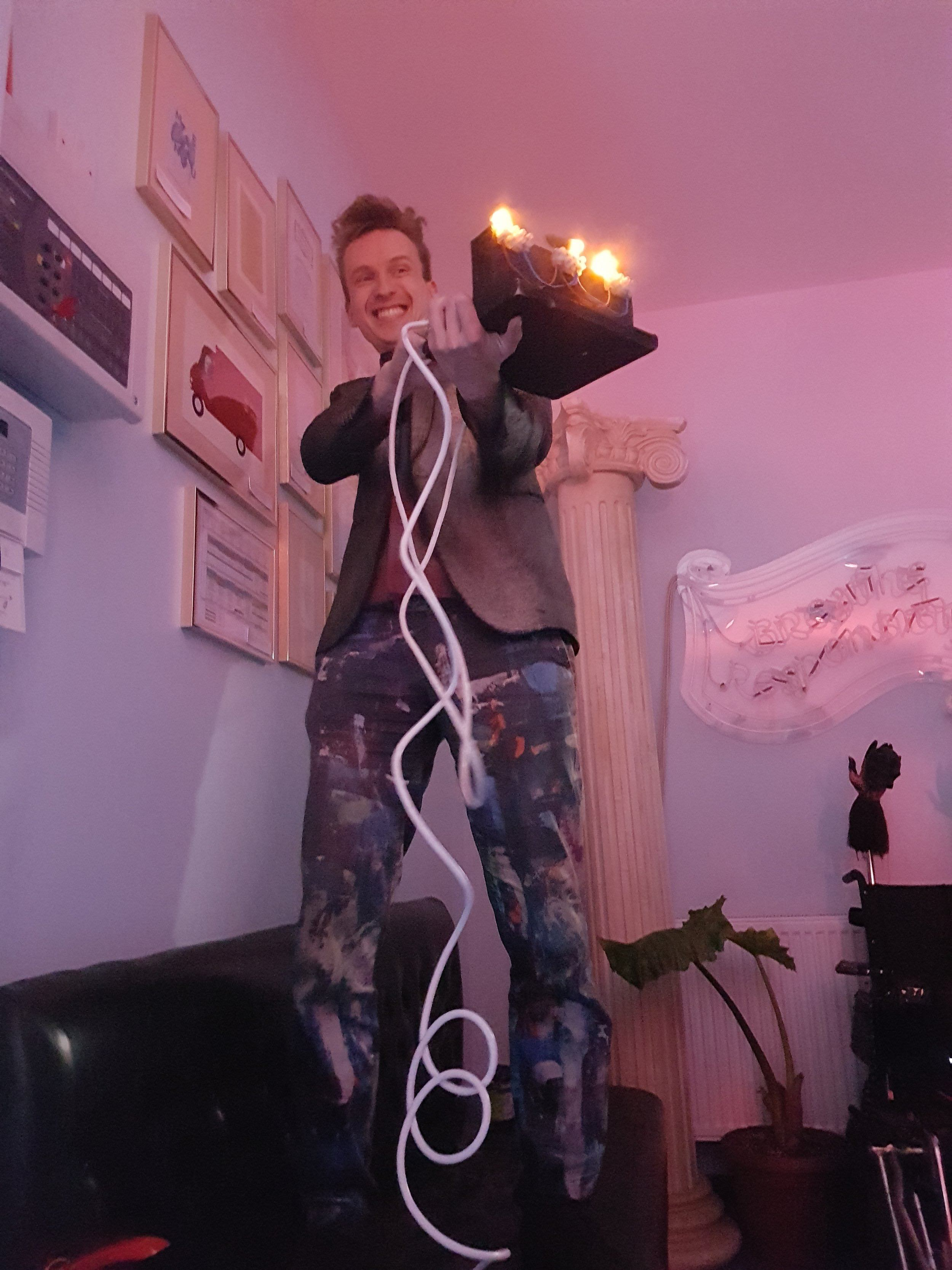 Sam Bompas & his electric gherkins - don't try this at home!