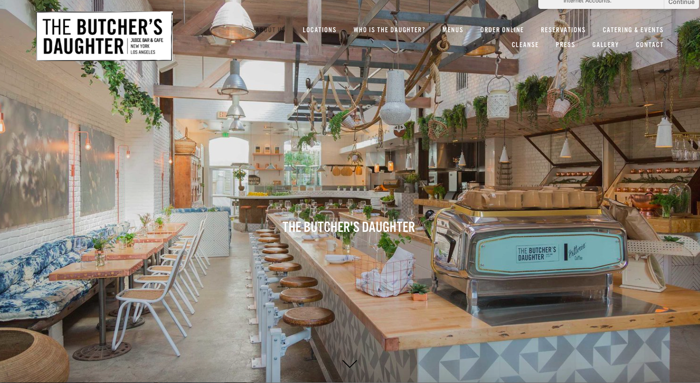 """The Butcher's Daughter is a plant-based restaurant, cafe, juice bar and """"vegetable slaughterhouse."""""""