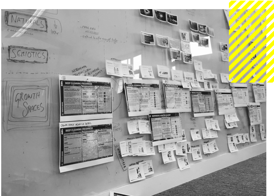 PERSPEX THINKING. - Our business comes to life at our Perspex Wall. Here we bring everyone's views together and map out our analysis and hypotheses to see the big picture.We'll share the raw thinking with you so that you can shape and challenge the findings and take ownership of the final story.