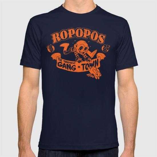 ROPOPOS: THE TOUGHEST GANG IN TOWN T-SHIRT     Join Zombie Jr's gang The Ropopos!  Available on Society6.