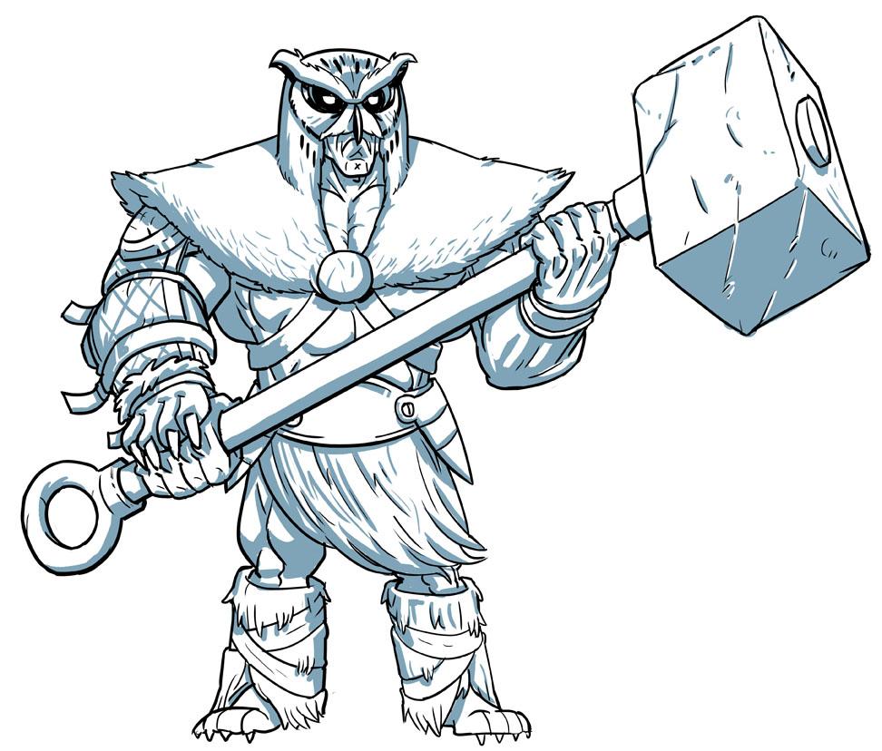 Owl Barbarian