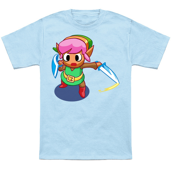 LINK TO THE PAST     Based on the Link sprite from the Link to the Past,pink hair, mismatched green clothes and all! HYEAAAAH!  Apparel and products available at  TeePublic.  Even more apparel options at  NeatoShop  .